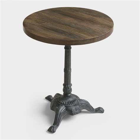 metal and wood french bistro accent table world market