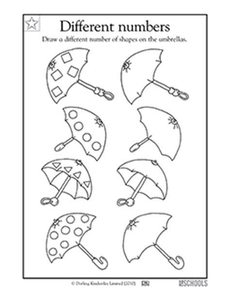 Kindergarten, Preschool Math Worksheets: Decorating