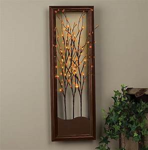 Wall art design ideas christmas led lighted wall art for Led wall art
