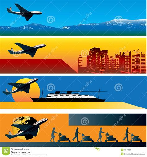 travel web banner templates royalty  stock photography