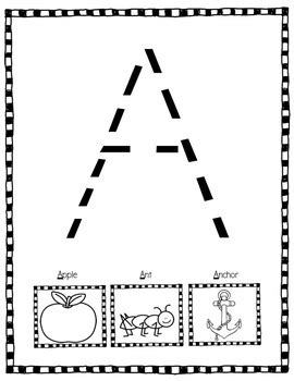 alphabet activities large letter tracing practice