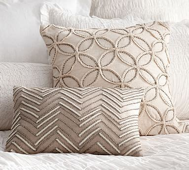 Beaded Jacquard Pillow Cover Pottery Barn New by Embellished Beaded Pillow Covers Pottery Barn