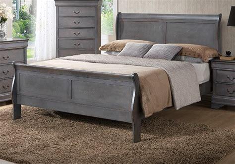 caroline grey sleigh queen bedroom set louisville