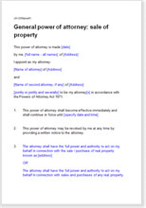 general power  attorney poa  sale  property