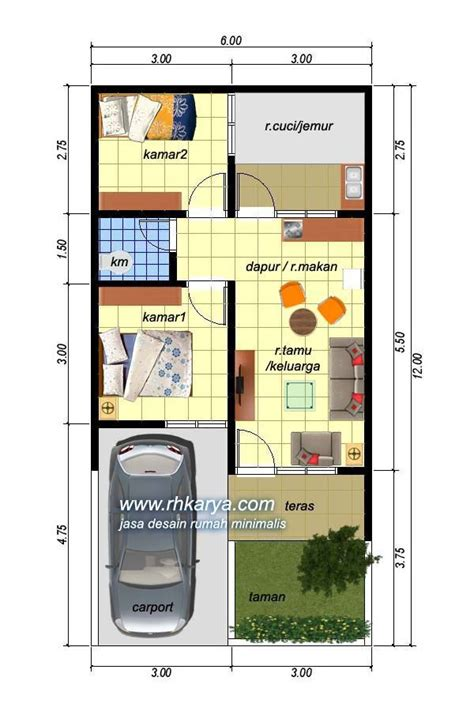 desain rumah minimalis  economic housing