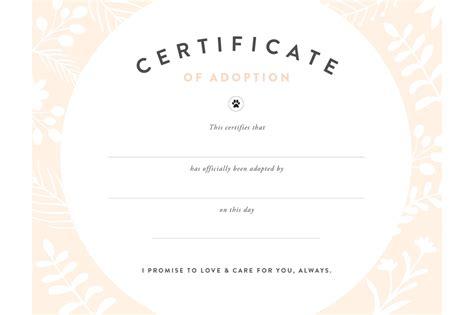 Adoption Certificate Certificate Best Adoption Certificate Template Images Gt Gt Pet Birth