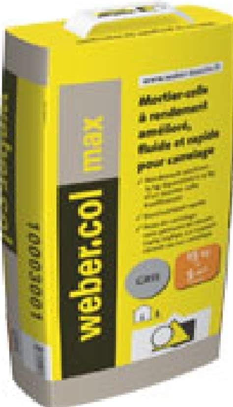 colle carrelage epoxy weber weber col max puissance 2 nouveaut 233 travailler sans poussi 233 re weber colles carrelage et