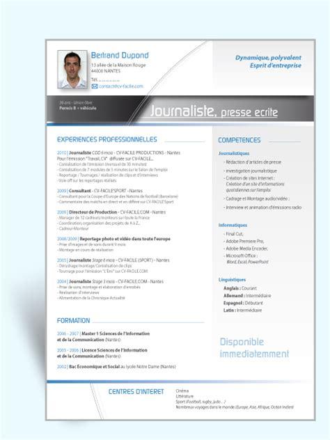 Mode Cv Word by Mod 232 Le Cv Journaliste Exemple Cv Original