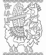 Coloring Crayola Llama sketch template