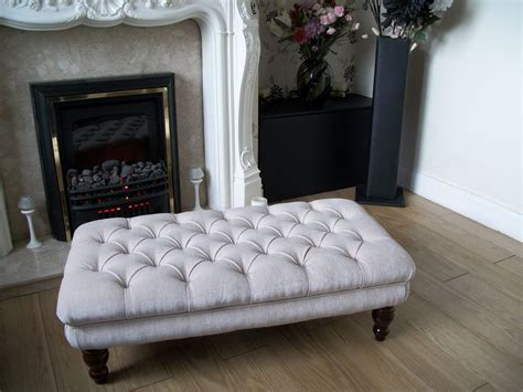 Chesterfield Oxford Deep Buttoned Large Footstool Coffee