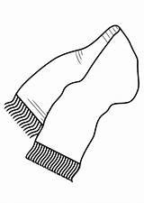 Scarf Bufanda Coloring Colorear Dibujo Dibujos Bufandas Invierno Ropa Inverno Humano Imagenes Corpo Colorir Designlooter Manualidades Printable Desenhar Aprender Abelhas sketch template
