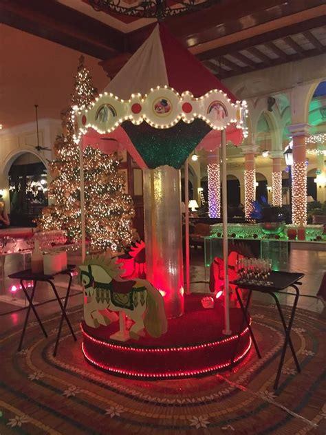 christmas decorations  riu hotel christmas carousel