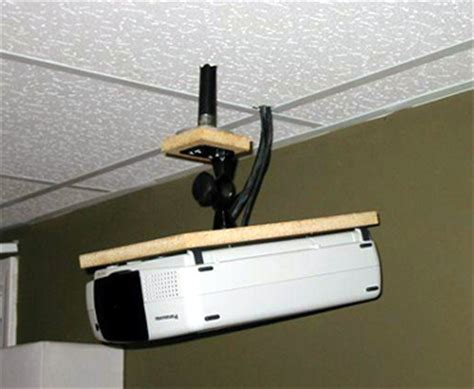 Ceiling Projector Mount Diy by Diy Screen Ceiling Mount For Panasonic Pt L711xu Avs