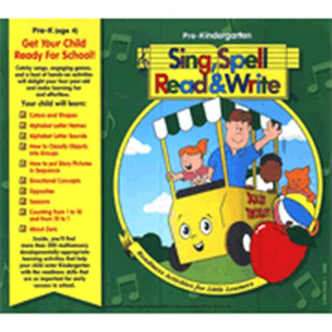 sing spell read and write pre kindergarten 209 | 46681