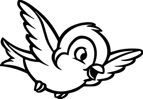 snow white forest animals snow white bird coloring pages