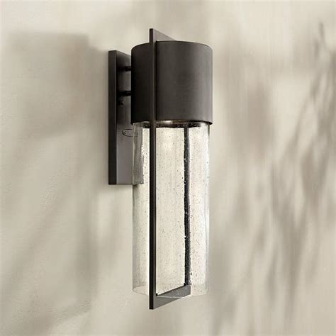hinkley shelter 23 1 4 quot h led black outdoor wall light