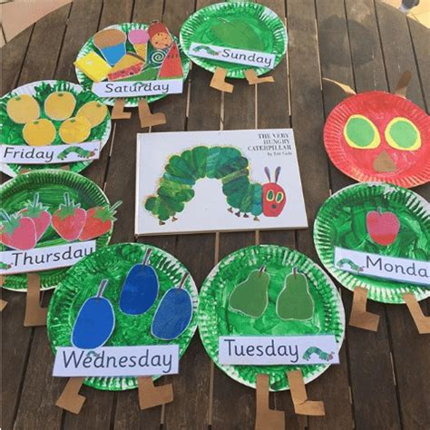 best the hungry caterpillar activities for the 836 | paper plate caterpillar