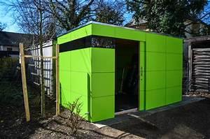 Chalet De Jardin Contemporain : m nchen design gartenhaus gart lime green ~ Premium-room.com Idées de Décoration