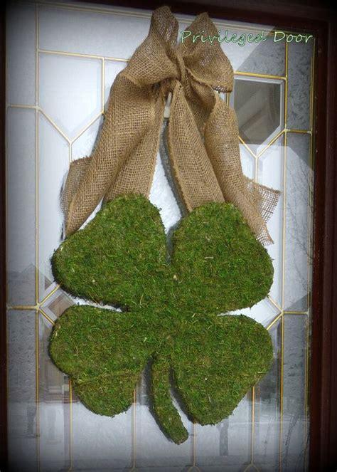 st patricks day wreath xl moss shamrock moss  privilegeddoor  st patricks day