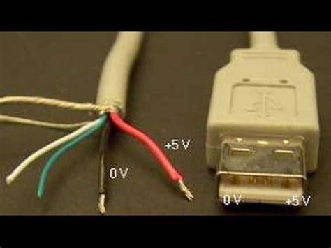 como saber el negativo y positivo de un cable usb youtube