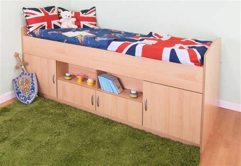 Midi Cabin Bed With Colour Options Ideal Children Safe Bed