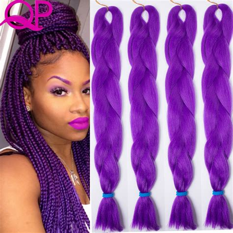 black  purple kanekalon braids menhairdos