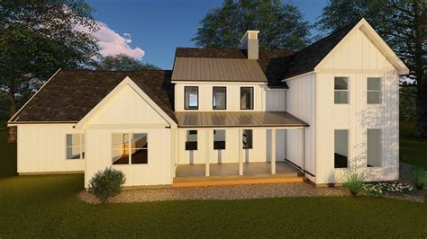 1 1/2 Story Modern Farmhouse House Plan   Rochester