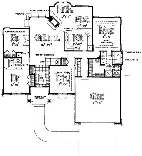 split bedroom floor plans one split bedroom home plans home design and style