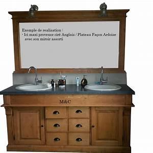 meuble salle de bain retro With meuble salle de bain bois ancien