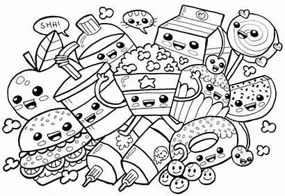 Coloring Pages Kawaii Cartoon Rocks Cat Printable