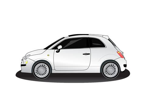 Free Vector Car  Fiat 500 Wwwvectorfantasycom