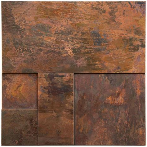 Indoor copper mosaic wall tile   Tiles & Pavers