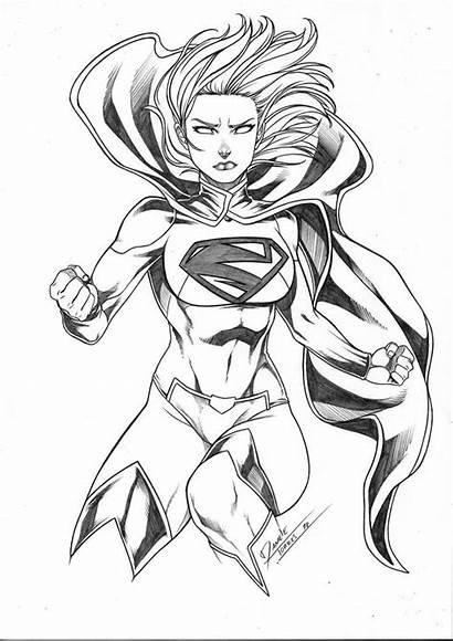 Supergirl Drawing Cartoon Comic Torres Daniele Pencil