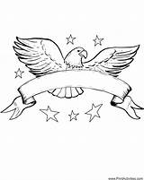 Eagle Ribbon July Coloring Pages Printable 4th Flying Banner Fourth Clipart Buddies Template Snow Patriotic Coloringpages American Clip Popular Templates sketch template