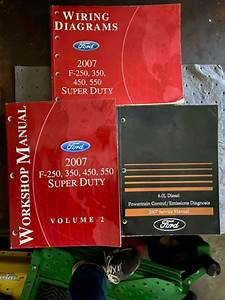 2007 Ford Truck F250 F350 450 550 Super Duty Service Manual Set Wiring Diagrams