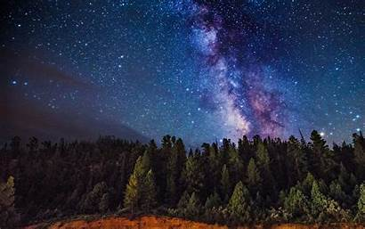 Milky Way Wallpapers Forest Galaxy Night Sky