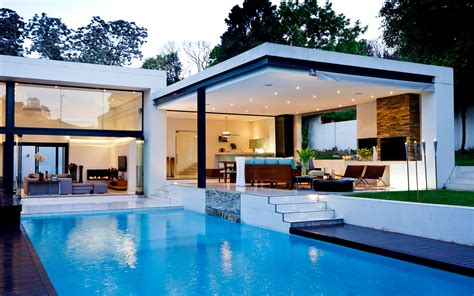 architecture swiming pool house modern wallpaper 1680x1050 122415 wallpaperup