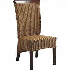 Chaise En Rotin : chaise en rotin et acajou mch1080 aubry gaspard ~ Preciouscoupons.com Idées de Décoration