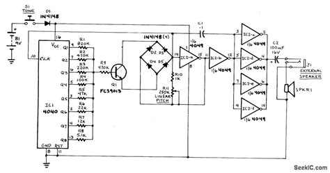 Sound Effects Generator Signal Processing Circuit