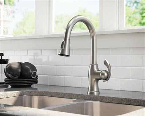 faucet sink kitchen 772 bn brushed nickel pull kitchen faucet