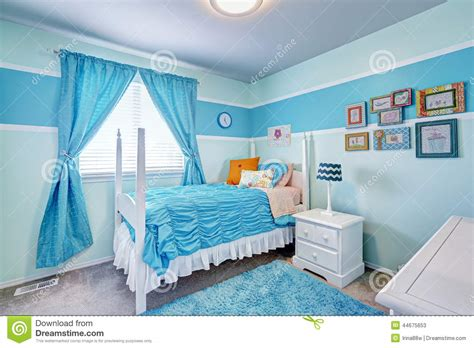Southern Living Living Room Paint Colors by Charming Girls Room Interior In Blue Tones Stock Photo