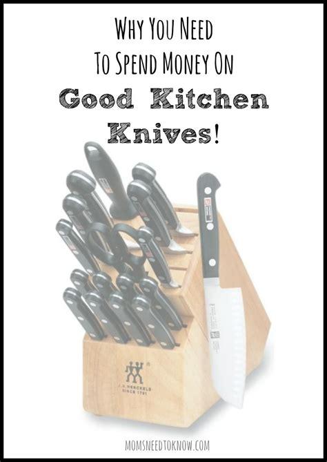 money kitchen knives knife block spend momsneedtoknow