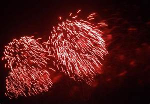 Photo of red firework lights | Free christmas images