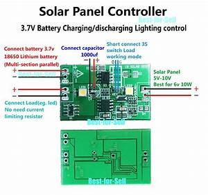 2a Solar Panel Controller 3 7v Lithium Battery Charge