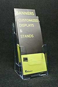 2 Pocket Trifold Pamphlet Magazine Catalogues Brochure Holder For Office Display