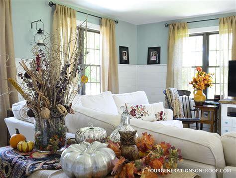 hometalk autumn sofa table mantel decorating