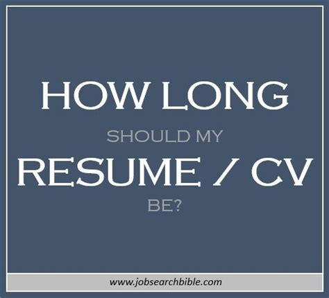 How Many Pages Should Be Included In Your Resume by How Should A Resume Be How Many Pages Search Bible