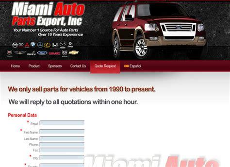 Parts Miami by Auto Parts Web Design And Auto Parts Marketing