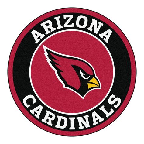 fanmats nfl arizona cardinals black 2 ft 3 in x 2 ft 3 in accent rug 17949 the home