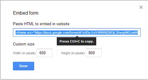 google forms shortcut how to embed google form in and